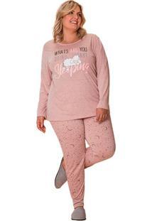 Pijama Feminino Plus Size Estrelas Mãe E Filha Luna Cuore