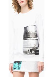 Casaco Ckj Fem Andy Warhol Rodeo - Branco - Pp