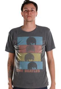 Camiseta Bandup The Beatles Headshot Grafite