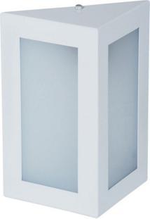 Arandela Biancoluce Triangular Branca 23Cm Em Alumínio Estilo 1212 Luminárias