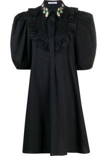 Vivetta Vestido Reto Mangas Longas - Preto