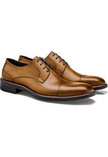 Sapato Social Brogan Derby Lauder Masculino - Masculino-Marrom Claro
