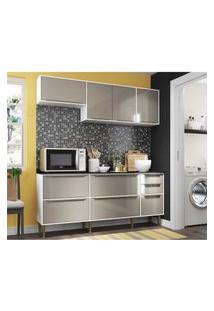 Cozinha Compacta Multimóveis New Paris 2836.892 - Com Balcáo 8 Portas 3 Gavetas