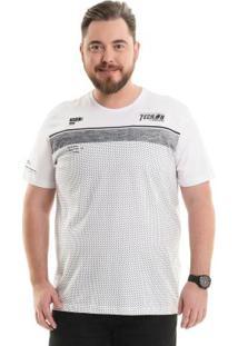 Camiseta Com Bordado Branco Bgo Plus