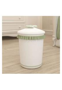 Lixeira Bebe Branco/Bege Alice Grão De Gente Verde