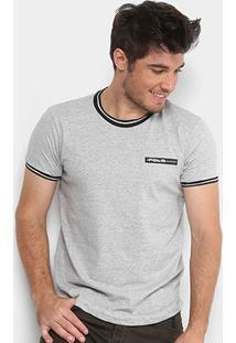 Camiseta Polo Rg 518 Retilínea Masculina - Masculino-Mescla
