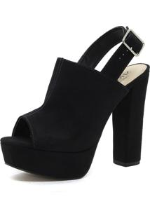 Sandália Shoes Inbox Sandal Boot Meia Pata Preto
