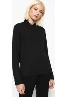 Camisa Com Recorte Vazado - Pretacalvin Klein