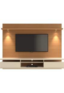 Painel Para Tv Até 60 Polegadas 2,20 M Com Spot De Led 2 Gavetas Versatile Casa D Noce/Off White