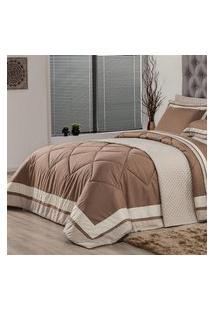 Edredom King Plumasul Soft Comfort 280X260Cm Microfibra Café