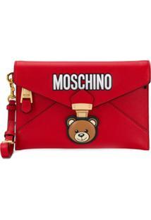 Moschino Clutch Envelope 'Teddy Bear' - Vermelho