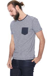 Camiseta Aramis Listrado Azul/Off-White