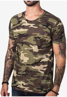 Camiseta Hermoso Compadre Militar Masculina - Masculino-Verde