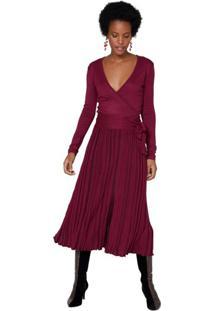 977df1c8d Vestido Midi Plissado feminino | Shoelover