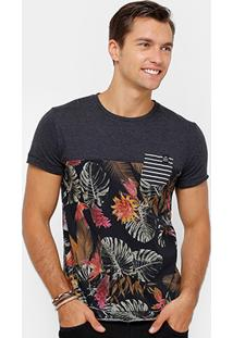 Camiseta Triton Recorte Bolso Masculina - Masculino