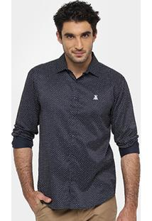 Camisa Broken Rules Mini Print Bordado - Masculino