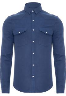 Camisa Masculina Ckj Flanelada - Azul