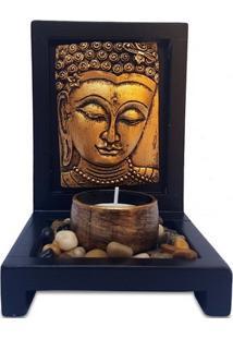 "Porta-Vela Zen ""Buda Gold"""
