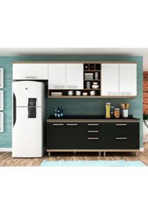 Cozinha Compacta New Vitoria 7 Pt 5 Gv Onix Com Bianco