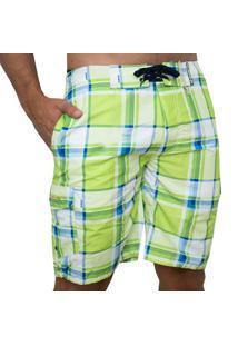 Short De Banho Kevingston Waikiki Verde