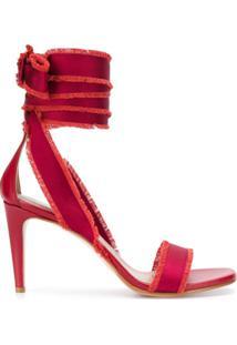 Redvalentino Sandália Com Amarração No Tornozelo - Vermelho