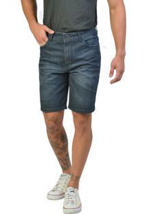Bermuda Slim Jeans Escura Yck'S