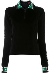 Dolce & Gabbana Jaqueta Plush Com Logo - Preto