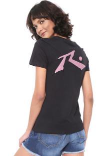 Camiseta Rusty Competition Preta
