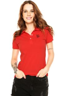 Camisa Polo Fashion Comics Small Vermelha
