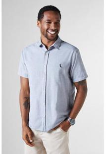 Camisa Reserva Regular Detalhes Pois Mc Masculina - Masculino-Azul