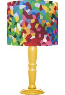 Abajur Mosaico Colorido Carambola