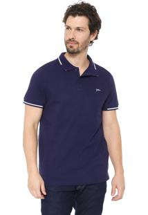 Camisa Polo Yachtsman Reta Eclipse Azul-Marinho