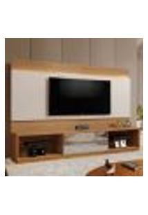 Estante Para Home Theater E Tv Até 65 Polegadas Istambul Com Espelho Damasco Soft E Off White