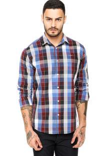 Camisa Colcci Xadrez Vinho/Azul
