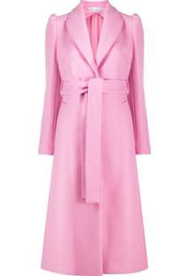 Redvalentino Casaco Midi Com Cinto - Rosa