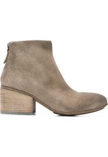 Marsèll Ankle Boot Com Detalhes Puídos - Cinza