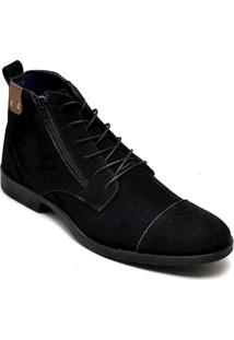 Bota Dress Boot Masculina Eco Canyon Broklin Suede Preto