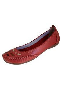 Sapatilha Scarpe Pesponto Vermelho