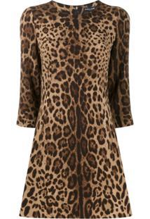 Dolce & Gabbana Leopard Print Dress - Neutro
