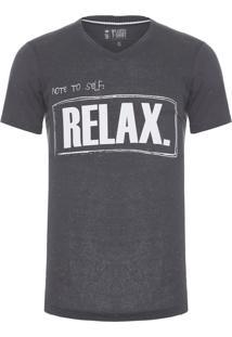 Camiseta Masculina Relax Botonê - Cinza