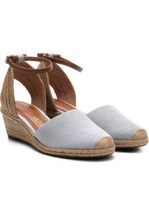 Sandália Espadrille Santa Lolla Jeans Feminina - Feminino-Jeans