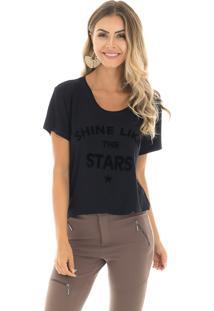 T-Shirt La Mandinne Shine Stars Preta