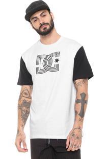 Camiseta Dc Shoes Raglan Epic Branca/Preta