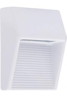 Luminária Balizadora Em Alumínio De Sobrepor Inclinada 12,8Cm Branca