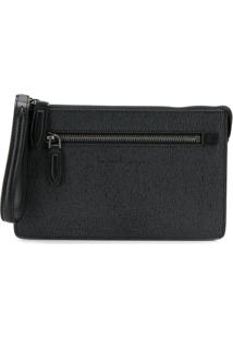 Salvatore Ferragamo Textured Clutch Bag - Cinza