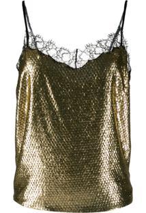 Etro Blusa Com Renda - Dourado