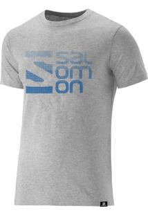 Camiseta Salomon Dots Ss Masculino Cinza Mescla Gg