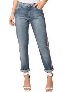 Calça Jeans 5 Pocktes Mid Rise Boy Ckj 061 Mid Rise Boy - Azul Claro - 34
