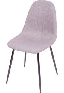 Cadeira Robin Linho Cinza Com Base Preta - 43085 Sun House