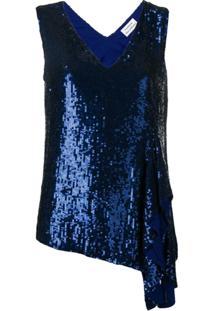 P.A.R.O.S.H. Blusa Gotit Com Paetês - Azul